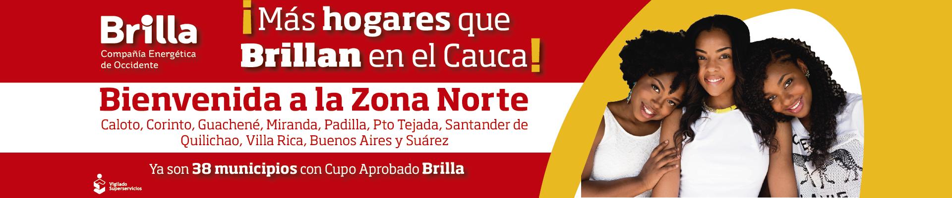 Brilla ahora está en más municipios del Cauca